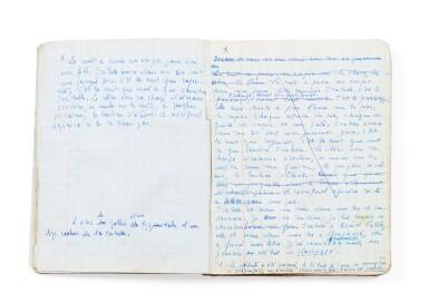View 6. Thumbnail of Lot 143. La Bâtarde. 1958-1963. Important manuscrit autographe, premier jet. 23 cahiers, env. 2048 p. ms. .