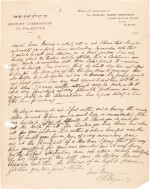 Chaim Weizmann | Autograph letter signed, to General Sir Gilbert Clayton, 6 September 1918