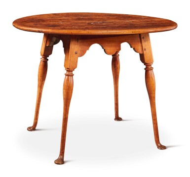 Fine and Rare Queen Anne Maple Splay-Legged Tea Table, Possibly Connecticut or Portsmouth, New Hampshire, circa 1760