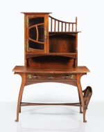 GUSTAVE SERRURIER-BOVY |  DESK WITH SHELVES [BUREAU ÉTAGÈRE]