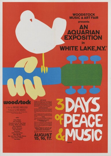 Woodstock (1970) press book poster, US