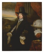 JACOB VAN REESBROECK   PORTRAIT OF A GENTLEMAN, POSSIBLY THE SEA CAPTAIN JOOST VERSCHUEREN (1625-1671), THREE-QUARTER LENGTH, FACING LEFT