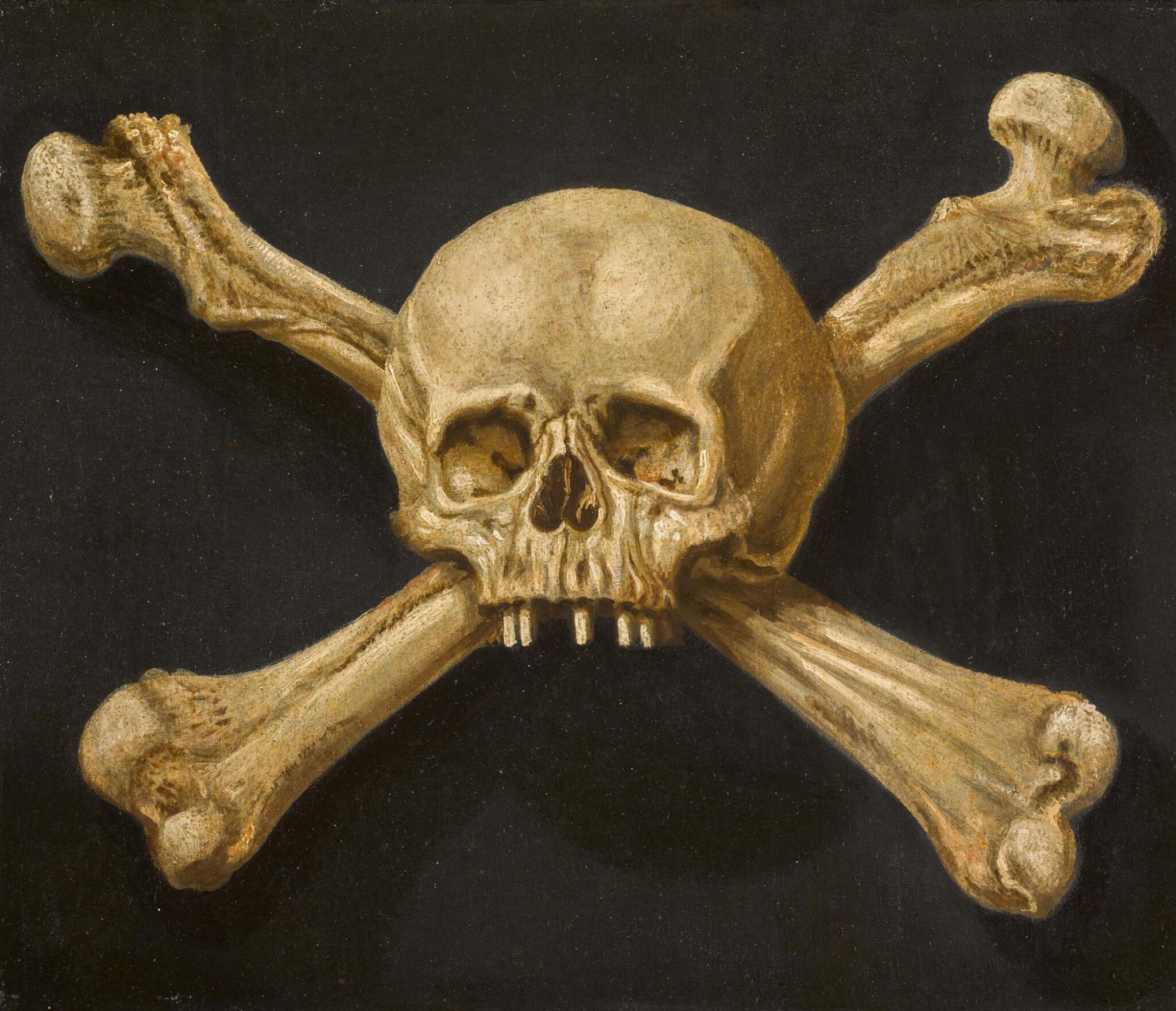 NEAPOLITAN SCHOOL, 17TH CENTURY | Amemento moriwith skull and crossbones