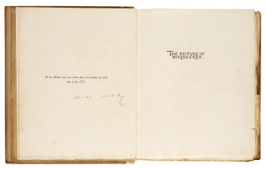 WILDE | The Picture of Dorian Gray, 1891, number 114 of 250 copies signed by the author