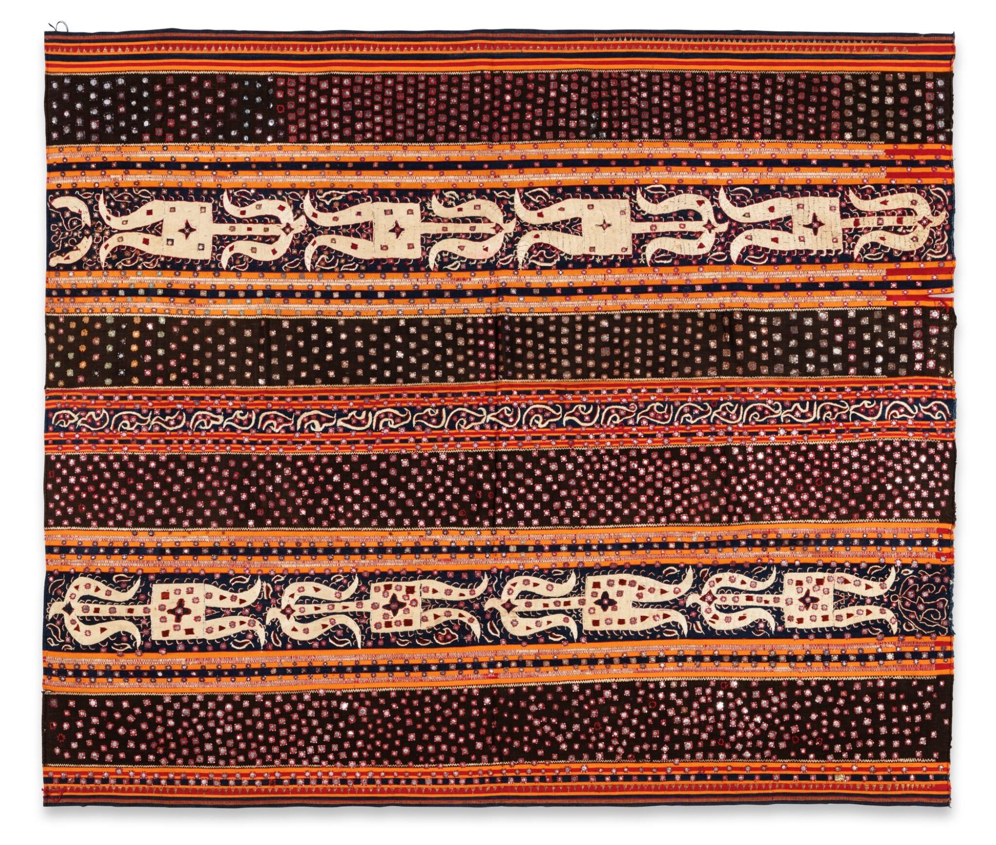 View full screen - View 1 of Lot 20. Vêtement de femme tapis, Lampung, Sumatra, Indonésie, début du 20e siècle   Woman's wrapper tapis, Lampung, Sumatra, Indonesia, early 20th century.