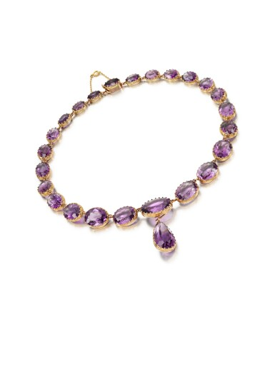View 2. Thumbnail of Lot 224. AMETHYST NECKLACE.