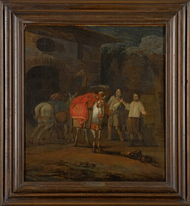 View 2. Thumbnail of Lot 15. ABRAHAM DOORNBOS | The Adoration of the Mule.