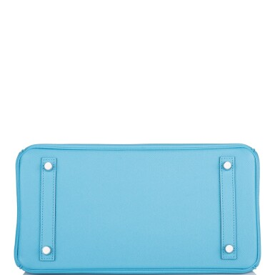 View 6. Thumbnail of Lot 63. Hermès Bleu Du Nord Birkin 30cm of Epsom Leather with Palladium Hardware.