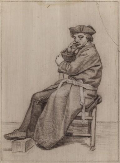 JORDANUS HOORN   Seated man in a hat