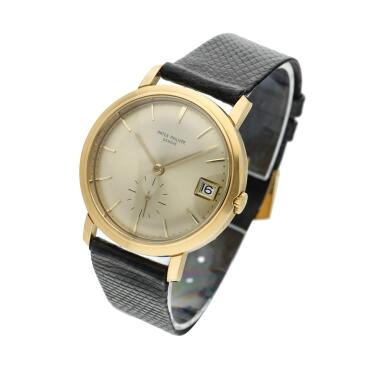 View 2. Thumbnail of Lot 246. Reference 3445  A yellow gold automatic wristwatch with date, Made in 1972.
