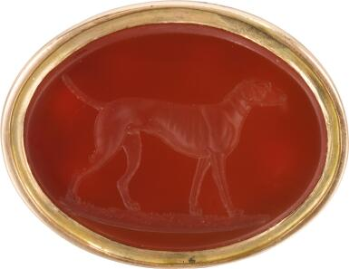 ENGLISH, 18TH CENTURY | INTAGLIO SEAL WITH AN ENGLISH POINTER
