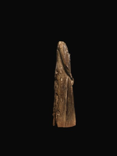 View 3. Thumbnail of Lot 65. AN EGYPTIAN WOOD FIGURE OF A MAN, SECOND PERSIAN PERIOD, 342-332 B.C..