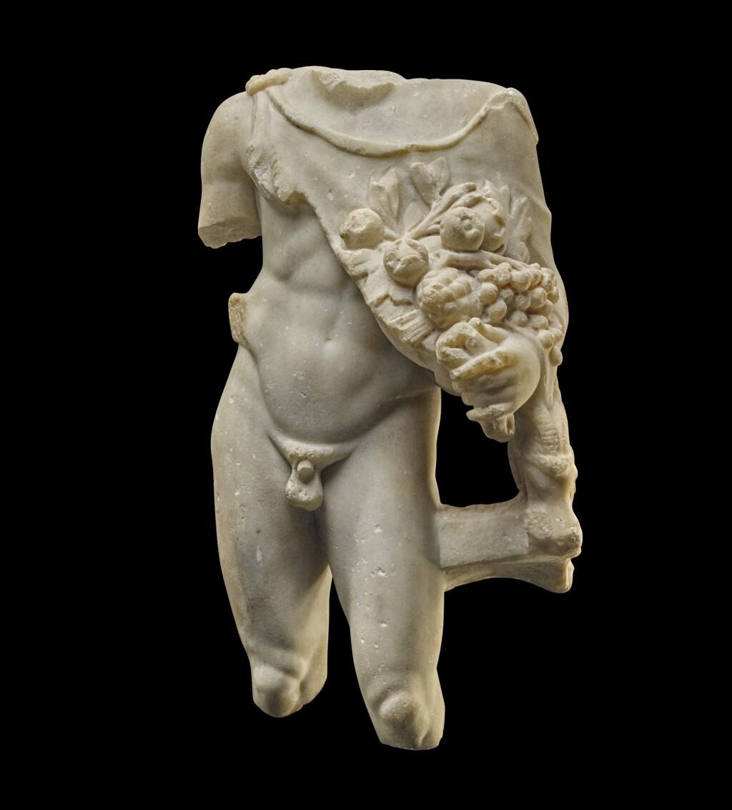 A ROMAN MARBLE TORSO OF SILVANUS, CIRCA 2ND CENTURY A.D.