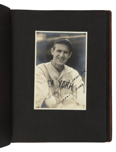 View 7. Thumbnail of Lot 145. The New York Yankees | Photo album of the 1931 New York Yankees, signed by 19 members of the team, including 10 future Hall of Famers, made for Yankees coach Jimmy Burke.