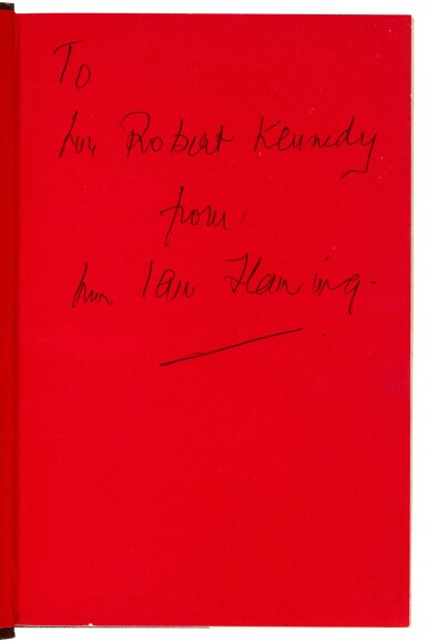 View 1. Thumbnail of Lot 52. FLEMING | The Spy Who Loved Me, 1962, first edition, presentation copy to Robert Kennedy.