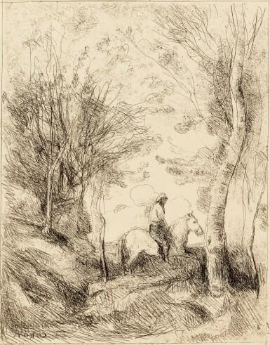 View 1. Thumbnail of Lot 39. COROT - DAUBIGNY - DELACROIX - MILLET - ROUSSEAU. Quarante clichés-glaces. 1921. Portfolio..