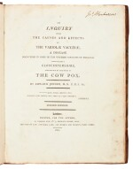 Jenner   An inquiry into the causes and effects of the variolae vaccinae, London, 1800, half calf
