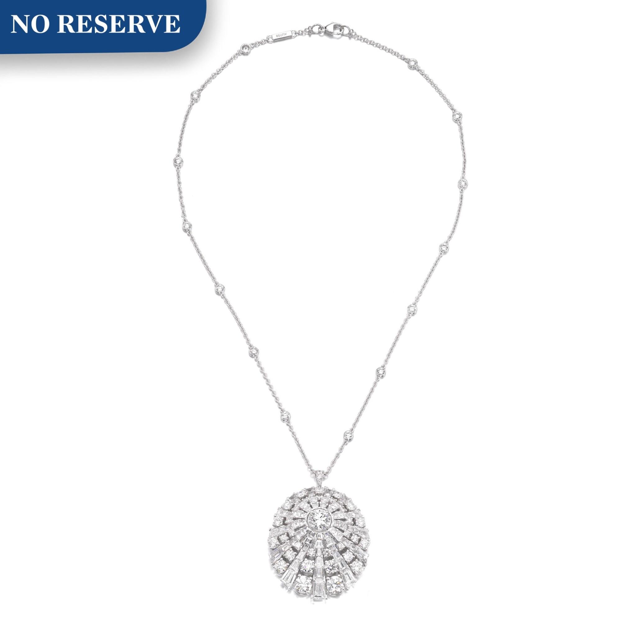 View full screen - View 1 of Lot 645. Graff | Diamond pendent necklace | 格拉夫 | 鑽石吊墜項鏈.