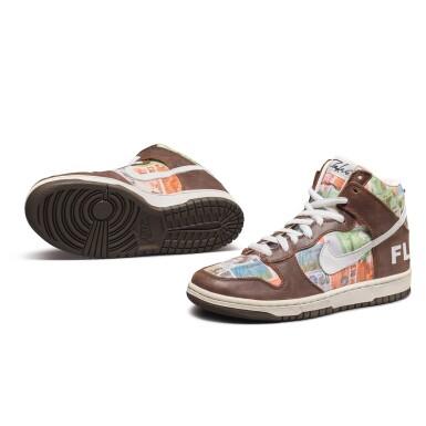 View 3. Thumbnail of Lot 1. Leonard Hilton McGurr 'Futura' | Nike Dunk High Pro SB 'FLOM' | Size 8.