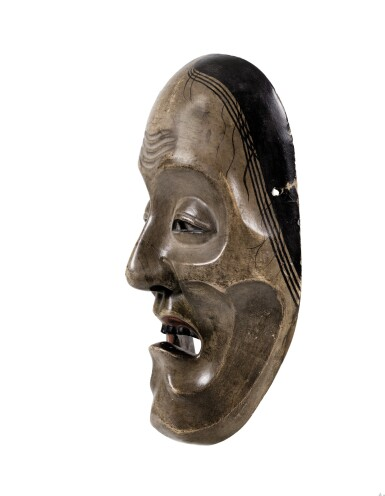 View 2. Thumbnail of Lot 78. A wood lacquered Noh mask, Japan, Meiji period.
