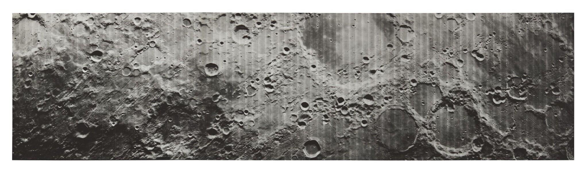 LUNAR ORBITER IV. CRATER SCHICKARD AND ENVIRONS, 1967.