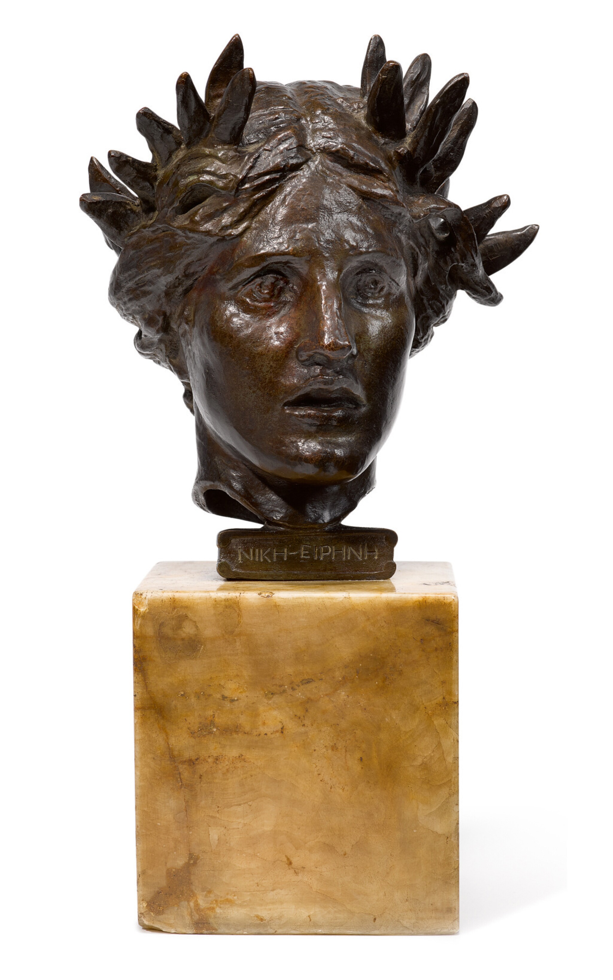 View full screen - View 1 of Lot 36. AUGUSTUS SAINT-GAUDENS   HEAD OF VICTORY.