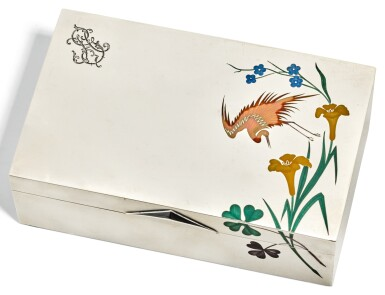 A RUSSIAN SILVER AND ENAMEL CIGAR BOX, GRACHEV BROTHERS, ST PETERSBURG, CIRCA 1880