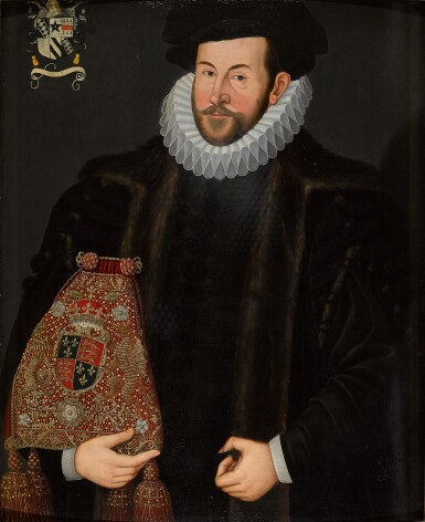 View 1. Thumbnail of Lot 67. THE UNKNOWN FOLLOWER OF HIERONYMUS CUSTODIS | PORTRAIT OF SIR JOHN PUCKERING OF KEW, SURREY AND WESTON (C. 1544–1596), SPEAKER OF THE HOUSE OF COMMONS AND LORD KEEPER OF THE PRIVY SEAL.