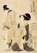 KITAGAWA UTAMARO I, (1750S–1806), EDO PERIOD, 19TH CENTURY   VISITING KOMACHI (KAYOI KOMACHI)
