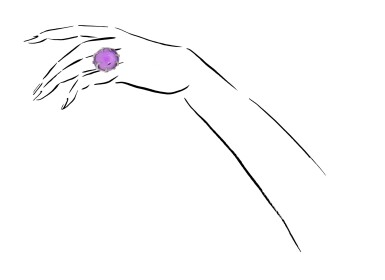 View 4. Thumbnail of Lot 41. MICHELE DELLA VALLE | AMETHYST AND DIAMOND RING.