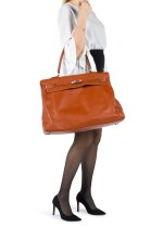 KELLY 50 RELAX BROWN IN SWIFT LEATHER WITH PALLADIUM HARDWARE. HERMÈS, 2014