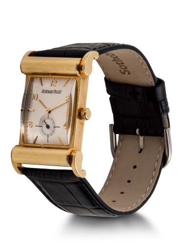 'CANAPÉ', | REF 14934BA LIMITED EDITION YELLOW GOLD WRISTWATCH WITH FANCY LUGS CIRCA 1995