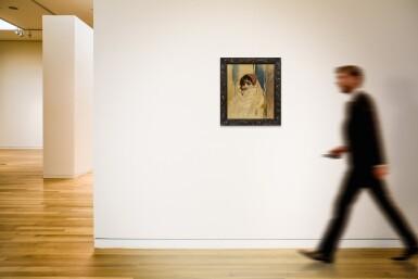 View 2. Thumbnail of Lot 135. WOJCIECH KOSSAK     PORTRAIT OF A VEILED WOMAN.