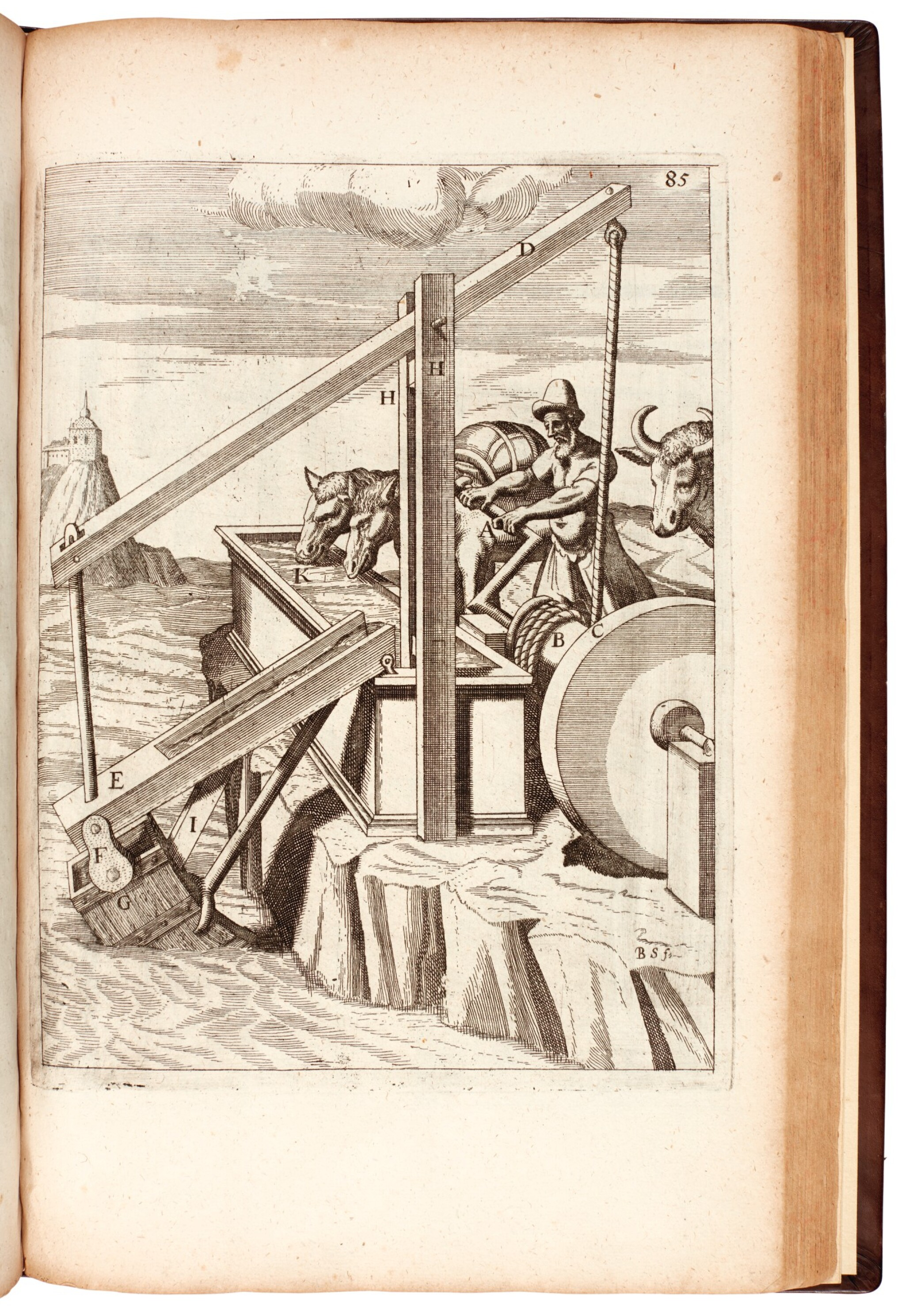 View full screen - View 1 of Lot 4. Böckler | Theatrum machinarum novum, 1686.