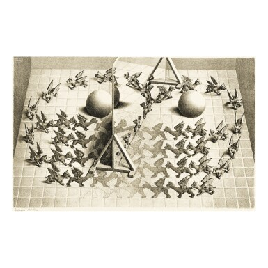 View 1. Thumbnail of Lot 86. M. C. ESCHER | MAGIC MIRROR (B./K./L./W. 338).