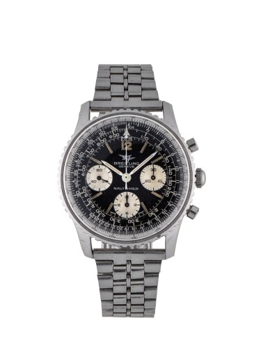 View 1. Thumbnail of Lot 83. BREITLING | NAVITIMER, REF 806 STAINLESS STEEL CHRONOGRAPH WRISTWATCH WITH BRACELET CIRCA 1960.