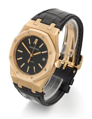 View 2. Thumbnail of Lot 31. AUDEMARS PIGUET   ROYAL OAK, REFERENCE 15300OR.OO.D002CR.01,  PINK GOLD WRISTWATCH WITH DATE,  CIRCA 2006.