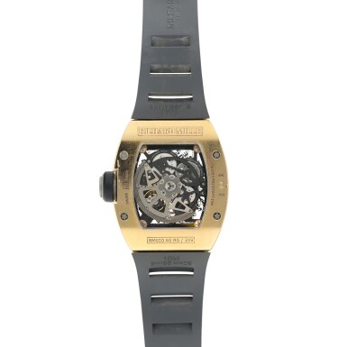 View 5. Thumbnail of Lot 191. RM010 A PINK GOLD CURVED TONNEAU SEMI-SKELETONIZED AUTOMATIC CENTER SECONDS WRISTWATCH WITH DATE, CIRCA 2012.