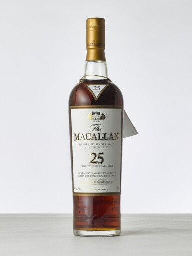 View 1. Thumbnail of Lot 2019. Macallan, 25 Year Old Sherry Cask NV (1 BT70).