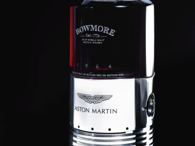 View 4. Thumbnail of Lot 1. Black Bowmore Aston Martin DB5 Whisky 49.6 abv 1964 (1 BT75).