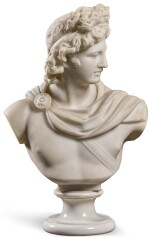 ITALIAN, 19TH CENTURY AFTER THE ANTIQUE |  BUST OF THE APOLLO BELVEDERE