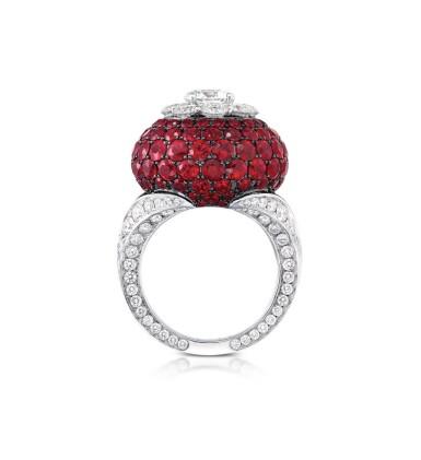 View 4. Thumbnail of Lot 51. GRAFF | RUBY AND DIAMOND RING 格拉夫 | 紅寶石配鑽石戒指.