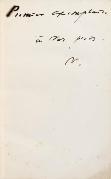 """View 2. Thumbnail of Lot 120. Actes et Paroles. 1875-1876. 3 vol, chacun avec un envoi à Juliette Drouet, """"la première""""."""