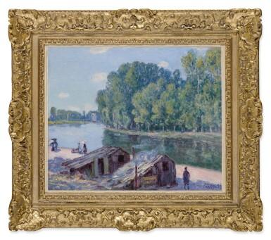 View 2. Thumbnail of Lot 17. Cabanes au bord du canal du Loing, Effet de soleil.