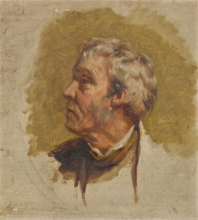 View 1. Thumbnail of Lot 40. Head study of a man in profile.