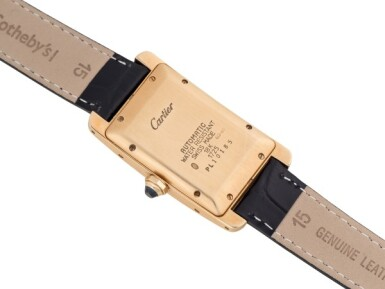 View 3. Thumbnail of Lot 101. CARTIER   TANK AMERICAINE, REF 1725 YELLOW GOLD WRISTWATCH WITH DATE CIRCA 1995.