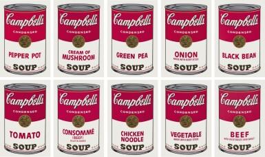 View full screen - View 1 of Lot 6. Andy Warhol  安迪・沃荷 | Campbell's Soup I (Set of Ten) 金寶湯之一(一套十幅).