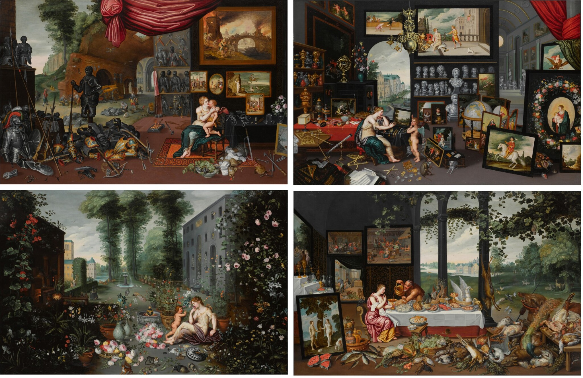 Allegories of The Four Senses