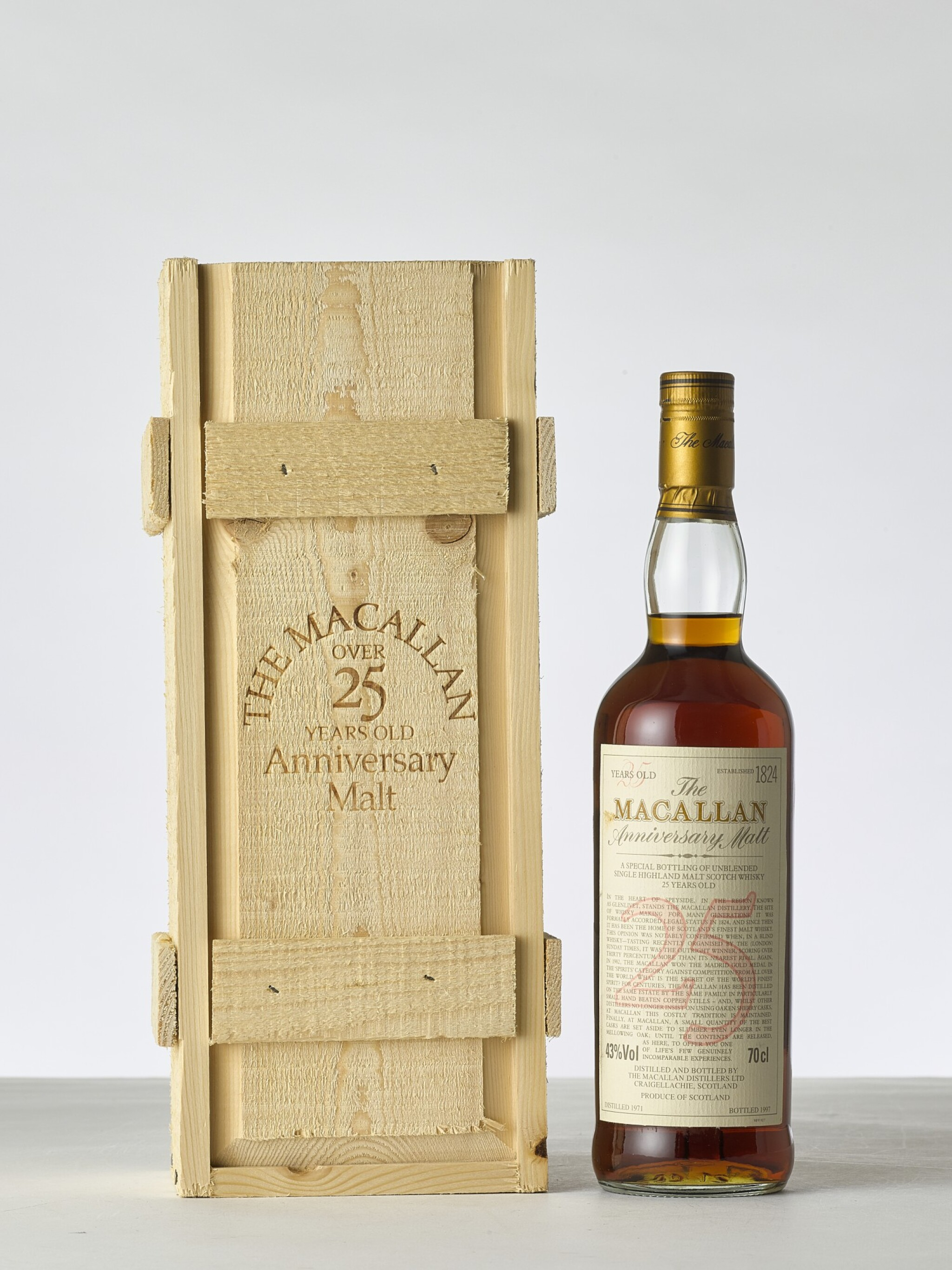 View 1 of Lot 2006.  The Macallan 25 Year Old Anniversary Malt 43.0 abv 1971 (1 BT70).