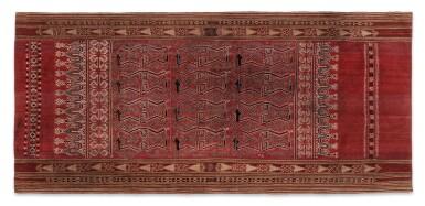 View 1. Thumbnail of Lot 6. Un textile cérémoniel pua et trois nattes, Indonésie | A ceremonial cloth pua and three mats, Indonesia.